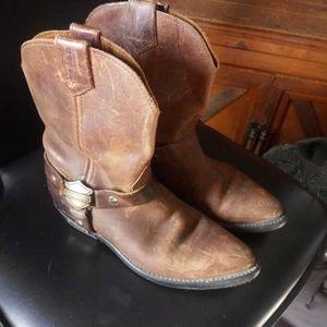 Women's Harley Davidson leather boots sz 8